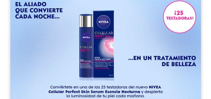 Buscan 25 testadoras de Nivea Cellular Perfect Skin