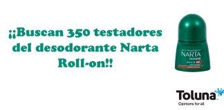 Buscan 350 testadores del desodorante Narta Roll-on