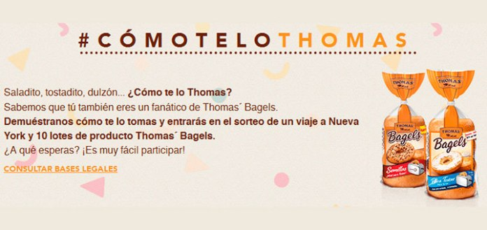 Consigue premios con Thomas' Bagels