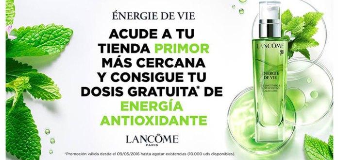 10.000 muestras gratis Energie de Vie