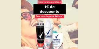 Consigue 1 euro de descuento en Rexona