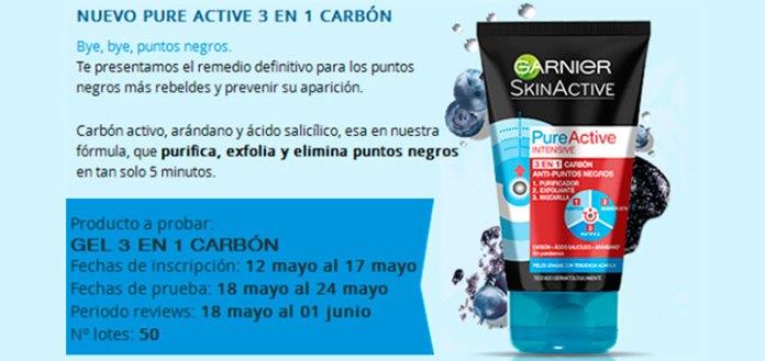 Prueba gratis Pure Active 3 en 1 Carbón