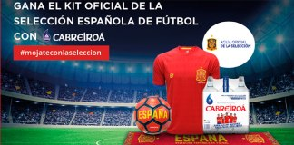 Kit oficial de la selección española con Cabreiroá
