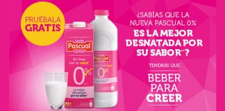 Prueba gratis Leche Pascual 0%