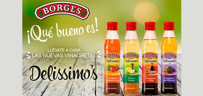 Sortean 20 lotes de vinagretas Delissimo's Borges