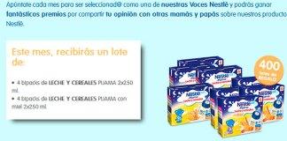 Prueba gratis Leche y Cereales Pijama Nestlé