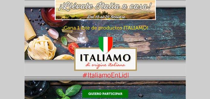 Gana un lote de productos italianos con Lidl