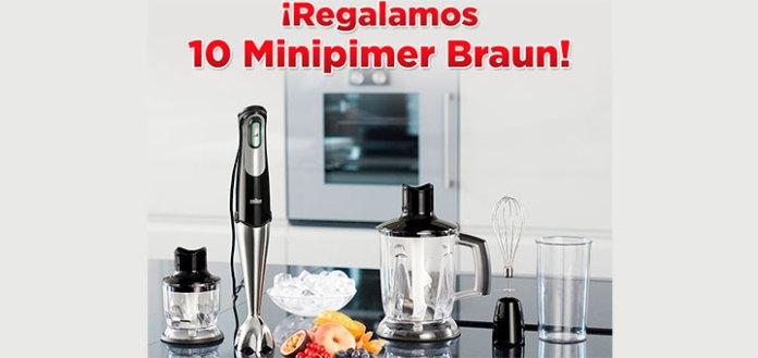 Regalan 10 Minipimer Braun