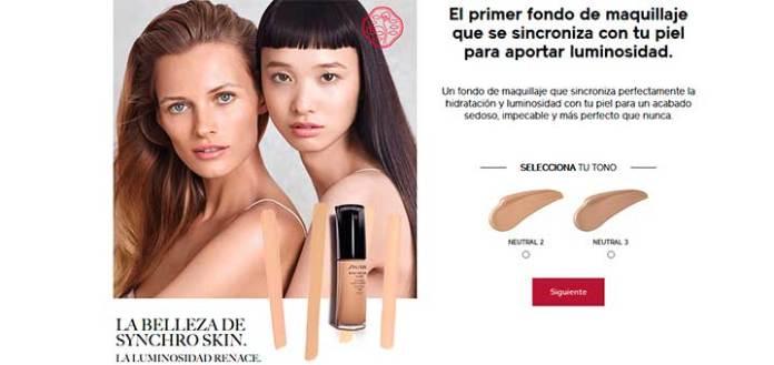Muestras gratis fondo de maquillaje de Shiseido