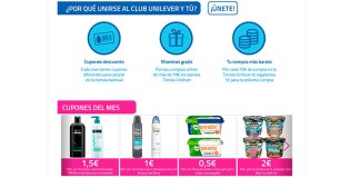 Nuevos cupones del mes Unilever