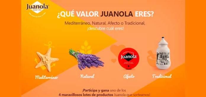 Juanola sortea 4 lotes de productos