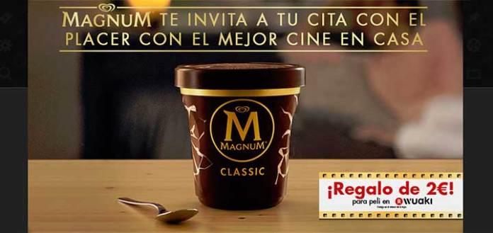 Magnum invita a ver pelis gratis en casa