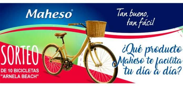 Maheso sortea 10 bicicletas Arnela beach