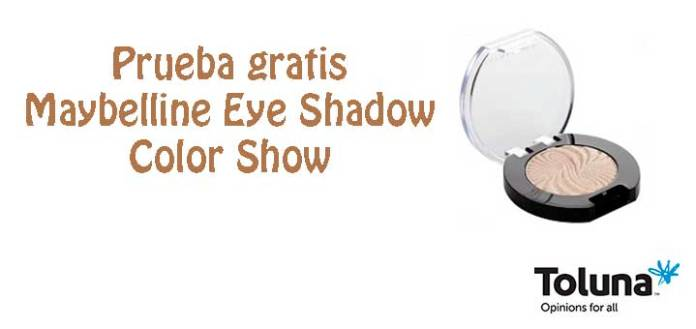 Prueba gratis Maybelline Eye Shadow Color Show