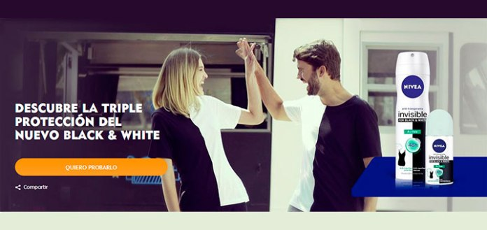 Prueba gratis Invisible Black and White de Nivea