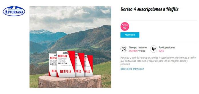 Club Central Lechera Asturiana sortea suscripciones a Netflix