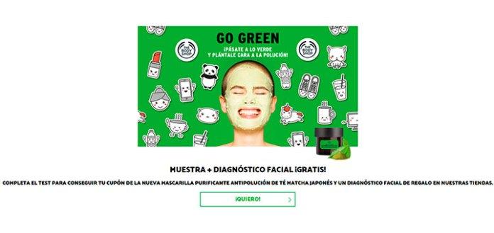 Consigue mascarilla purificante de Té Macha Japonés de The Body Shop