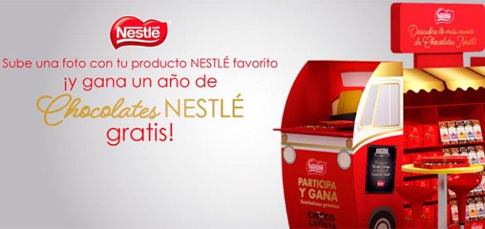 Gana un año gratis de chocolates Nestlé