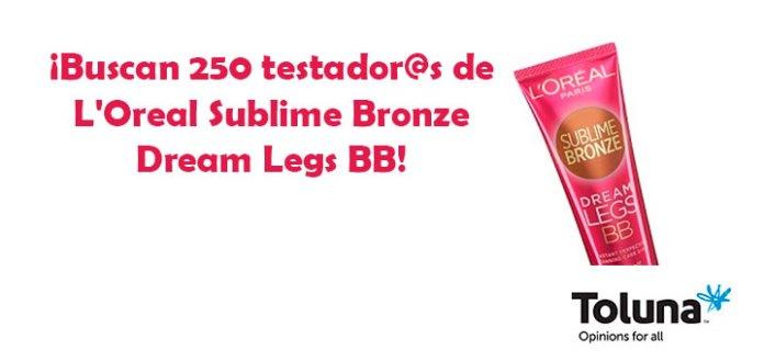 Prueba gratis L'Oreal Sublime Bronze Dream Legs BB