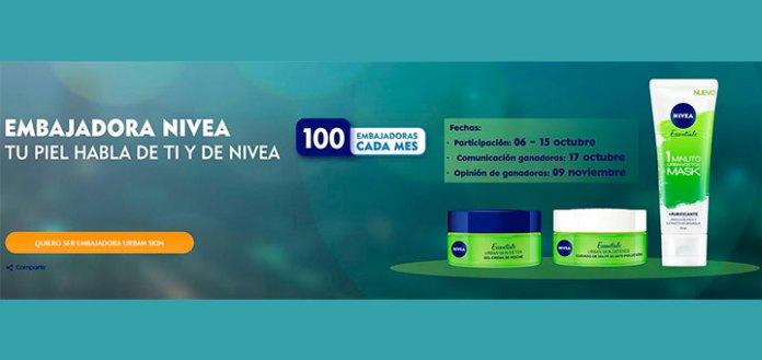 Buscan 100 Embajadoras para probar Nivea Urban Skin
