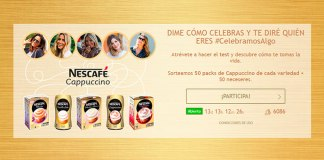 Nescafé sortea 50 packs de Cappuchino