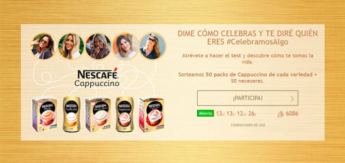 Nescafé sortea 50 packs de Cappuchino