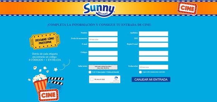 Sunny Delight regala entradas de cine