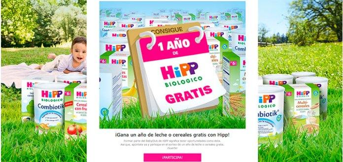 Gana un año de leche o cereales gratis con Hipp
