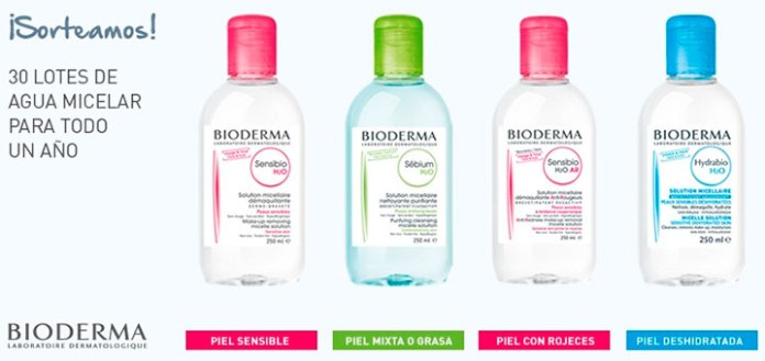 Sortean 30 lotes de Agua Micelar Bioderma