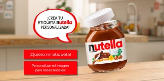 Consigue una etiqueta Nutella personalizada