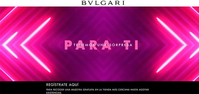 Muestras gratis de Omnia Pink Sapphire