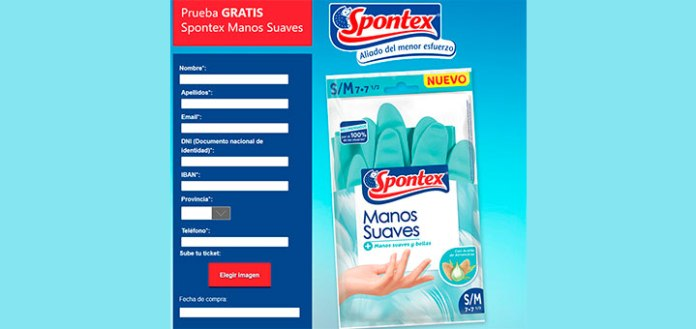 Prueba gratis Spontex Manos Suaves