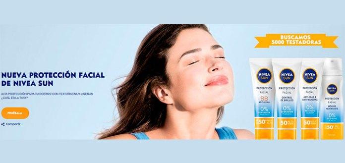 Prueba gratis la nueva protección facial de Nivea Sun