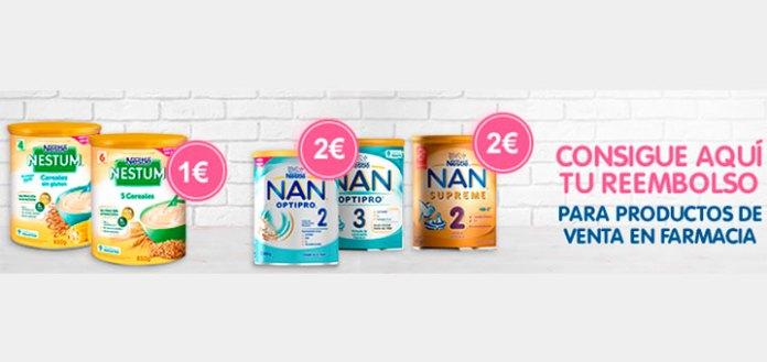 Consigue hasta 2€ de reembolso en Nestlé Nestum y Nan