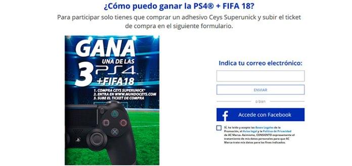 Gana un PS4 con Ceys Superunick