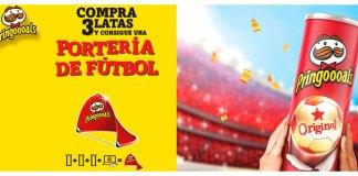 Llévate una portería de fútbol con Pringles
