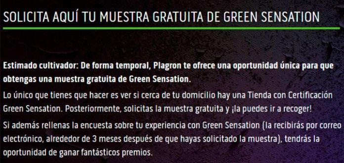 Muestras gratis de Green Sensation
