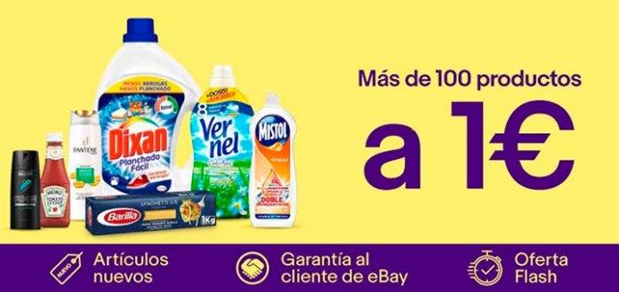 Más de 100 productos a 1€ en Ebay