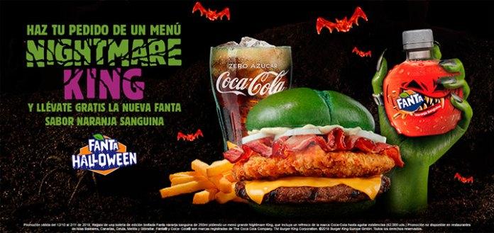 Gratis la nueva Fanta Halloween en Burger King
