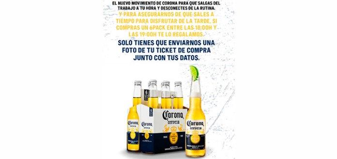 Prueba gratis Cerveza Corona