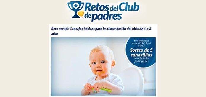 Sortean 5 canastillas con los Retos del Club de Padres