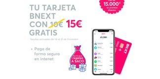 Consigue 15€ y regalos a saco esta Navidad con Bnext