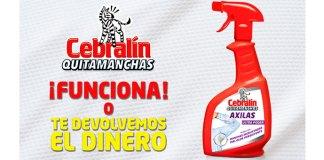 Prueba gratis Cebralín Quitamanchas Axilas