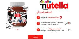 Vuelven las etiquetas personalizadas de Nutella