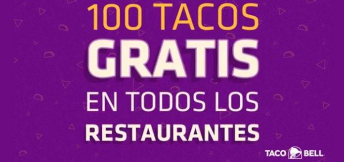 Tacos gratis con Taco Bell