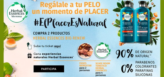 Gana experiencias naturales Herbal Essences