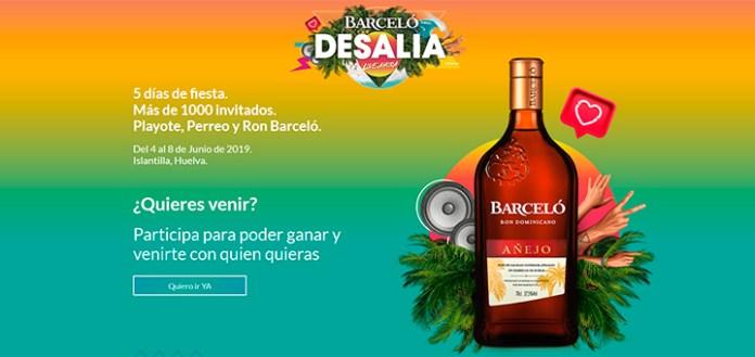 Ron Barcelo sortea 5 días de fiesta en Desalia 2019