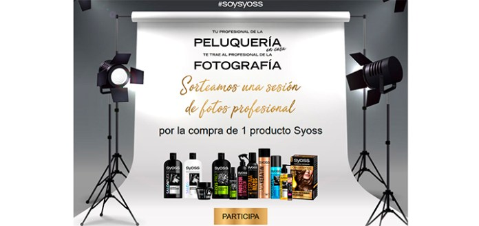 Sortean una sesión de fotos profesional con Syoss
