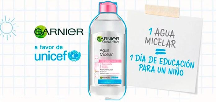 1 agua micelar Garnier = 1 Día de Escuela