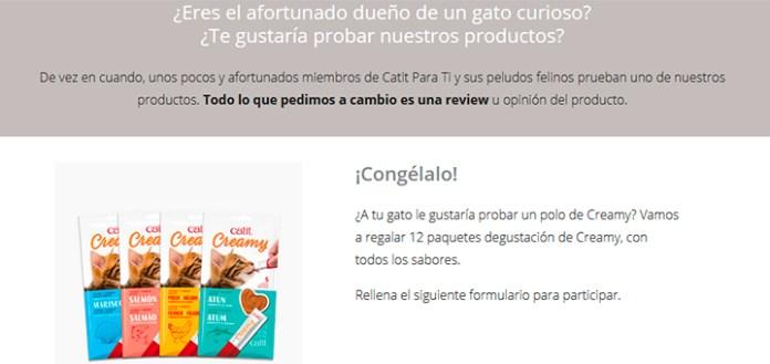 Catit regala 12 paquetes degustación de Creamy